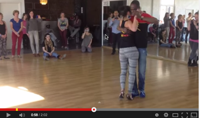 Kizomba Workshop Demo by Dasmara & Elisa at Ginga no Ponto in Brussels