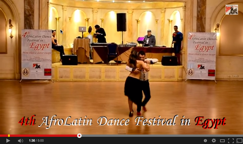 Miguel & Susana at 4th AfroLatin Dance Festival in Egypt 2014